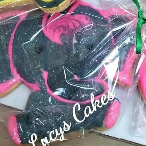 Lucy's Cakes & Crumbs - Black Pink Elephant