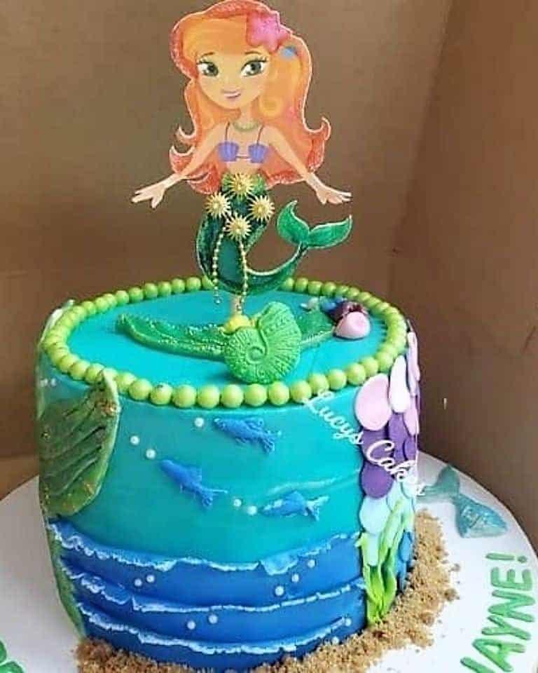 Lucy's Cakes & Crumbs - Green Mermaid