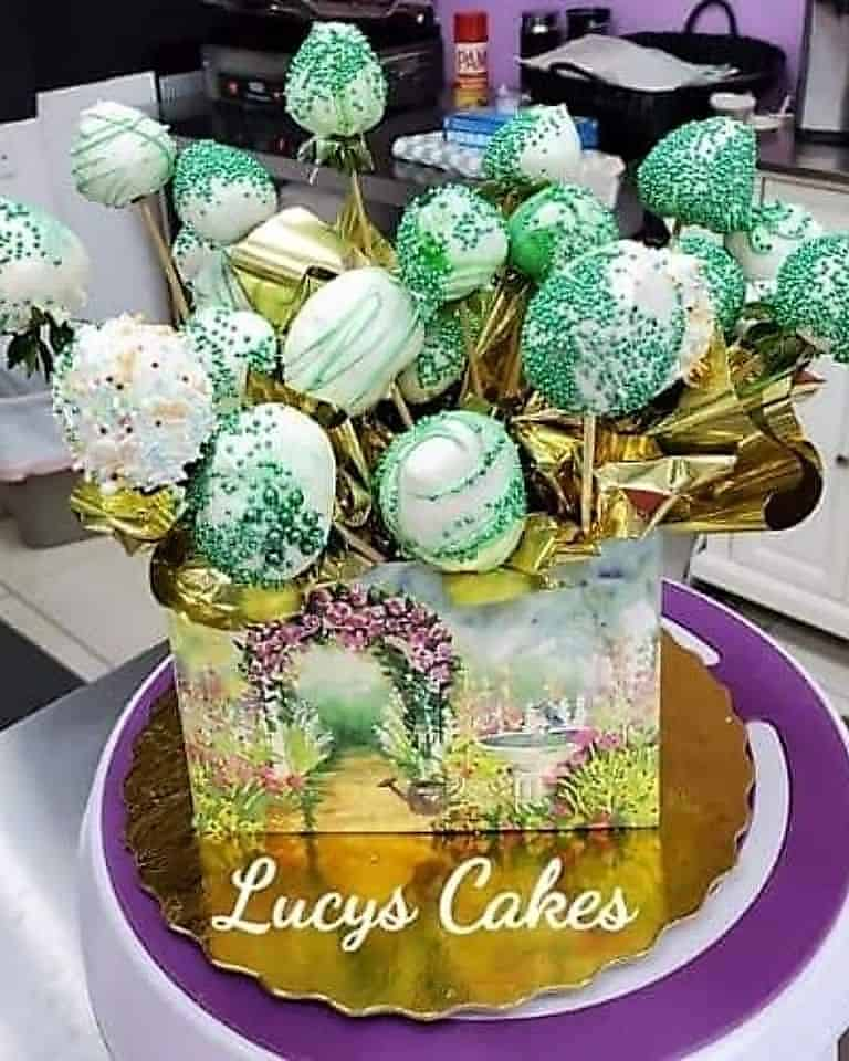 Lucy's Cakes & Crumbs - Green Sprinkled Strawberries