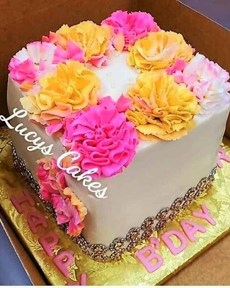 Lucy's Cakes & Crumbs - PInkYellow Flowers
