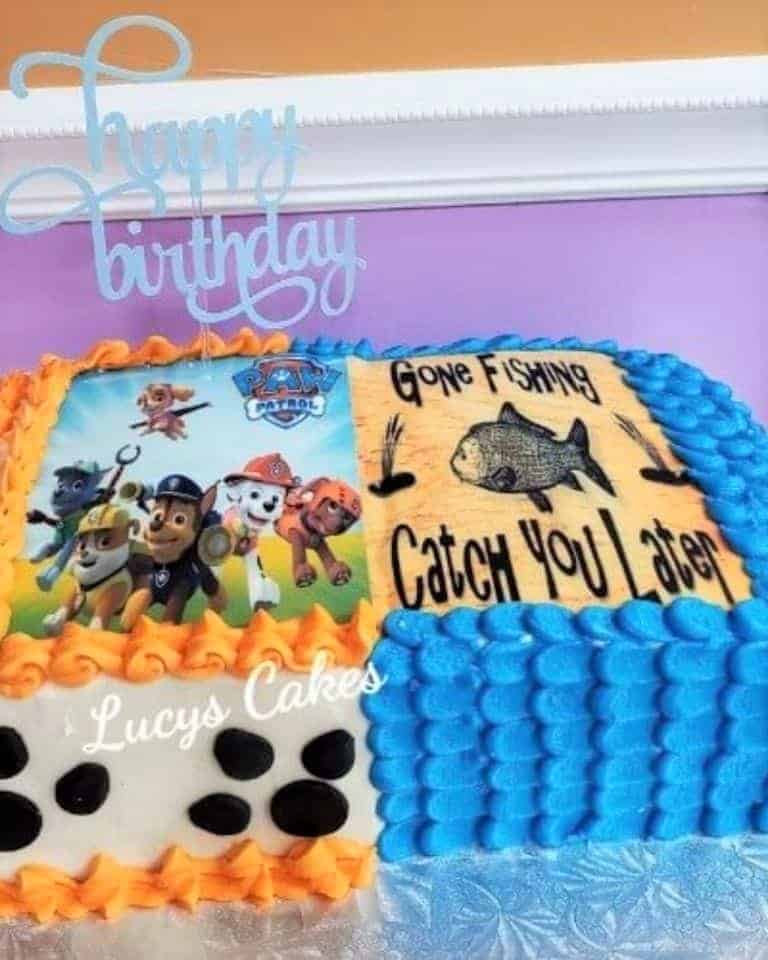 Lucy's Cakes & Crumbs - Paw Patrol & Gone Fishing