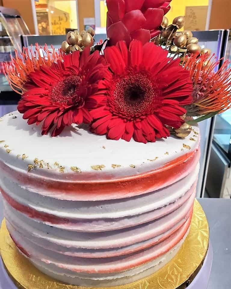 Lucy's Cakes & Crumbs - Red Sunflower