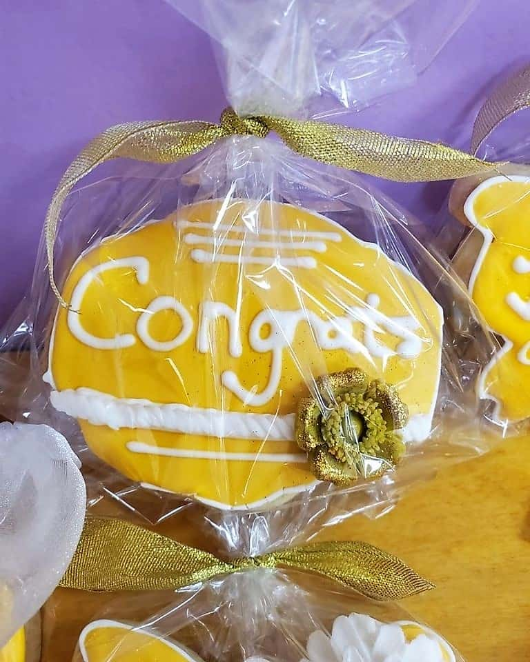 Lucy's Cakes & Crumbs - Yellow Congrats