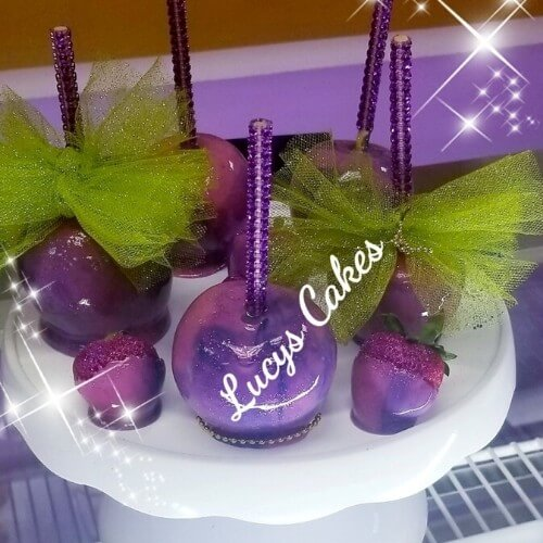 Lucy's Cakes & Crumbs - Purple Candy Apples