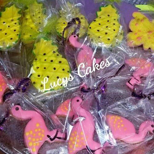 Lucy's Cakes & Crumbs - Flamingo Cookies