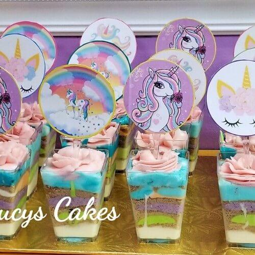 Lucy's Cakes & Crumbs - Unicorn Dessert Cups