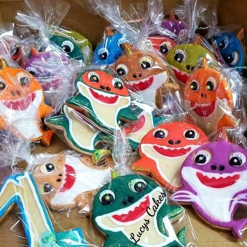 Lucy's Cakes & Crumbs - Shark Cookies